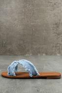 Cascara Blue Denim Slide Sandals 1