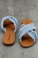 Cascara Blue Denim Slide Sandals 3