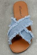Cascara Blue Denim Slide Sandals 5