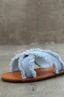 Cascara Blue Denim Slide Sandals 6