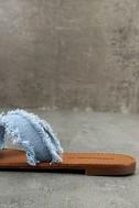 Cascara Blue Denim Slide Sandals 7