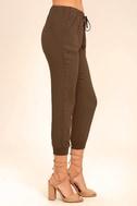 Widely-Popular Khaki Jogger Pants 3