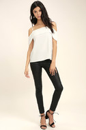 Play a Tune White Off-the-Shoulder Top 2