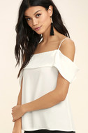 Play a Tune White Off-the-Shoulder Top 3