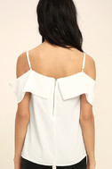 Play a Tune White Off-the-Shoulder Top 4