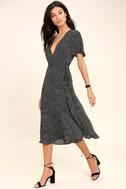 Gimme Your Love Black Polka Dot Wrap Dress 2