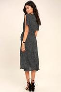 Gimme Your Love Black Polka Dot Wrap Dress 3