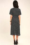 Gimme Your Love Black Polka Dot Wrap Dress 4