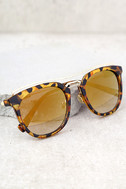 Perverse Lynna Tortoise and Gold mirrored Sunglasses 2