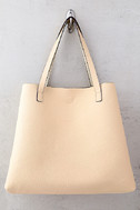 Stuff of Dreams Peach and Gold Reversible Tote 2
