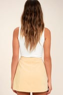 Made with Moxie Beige Corduroy Mini Skirt 3