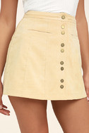 Made with Moxie Beige Corduroy Mini Skirt 5