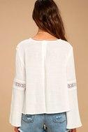 Run Wild White Lace Long Sleeve Top 4