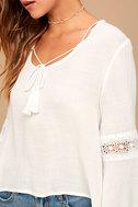 Run Wild White Lace Long Sleeve Top 5