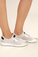 Coolway Tahali BSC Silver Knit Sneakers 3