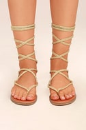 Madden Girl Juliie Gold Lace-Up Sandals 2