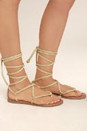 Madden Girl Juliie Gold Lace-Up Sandals 3