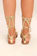 Madden Girl Juliie Gold Lace-Up Sandals 4