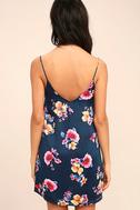Love Me Sweet Navy Blue Floral Print Shift Dress 4