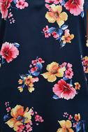 Love Me Sweet Navy Blue Floral Print Shift Dress 6
