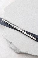 Viveka Black and Gold Rhinestone Choker Necklace 3