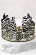 Zevida Black and Gold Lace Choker Necklace 3