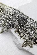 Zevida Black and Gold Lace Choker Necklace 2