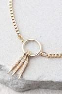 Tryphena Gold Rhinestone Choker Necklace 2