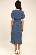 Gimme Your Love Navy Blue Polka Dot Wrap Dress 4