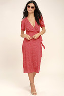 Gimme Your Love Red Polka Dot Wrap Dress 2