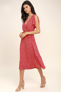 Gimme Your Love Red Polka Dot Wrap Dress 3