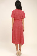 Gimme Your Love Red Polka Dot Wrap Dress 4