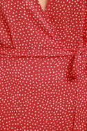 Gimme Your Love Red Polka Dot Wrap Dress 6