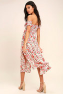 View from the Meadow Cream Floral Print Off-the-Shoulder Dress 3