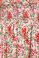 View from the Meadow Cream Floral Print Off-the-Shoulder Dress 6
