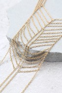 Spare Chain-ge Gold Layered Choker Necklace 2