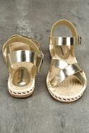 Glamorous Sunny Gold Espadrille Flat Sandals 3
