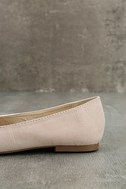 Arvida Nude Suede Embroidered Loafer Flats 7