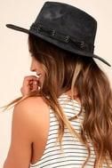 Hiya Black Suede Fedora Hat 2