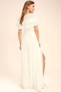 Wonderful Day White Wrap Maxi Dress 3