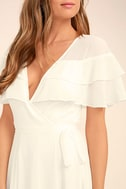 Wonderful Day White Wrap Maxi Dress 5