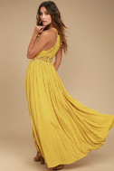 This is Love Mustard Yellow Lace Maxi Dress 3
