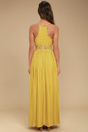 This is Love Mustard Yellow Lace Maxi Dress 4