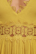 This is Love Mustard Yellow Lace Maxi Dress 6