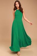 Super Starlet Green Lace-Up Maxi Dress 2