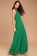Super Starlet Green Lace-Up Maxi Dress 3