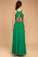 Super Starlet Green Lace-Up Maxi Dress 4