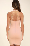 Endlessly Alluring Light Pink Lace Bodycon Dress 4