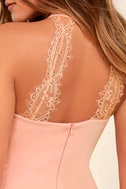 Endlessly Alluring Light Pink Lace Bodycon Dress 5