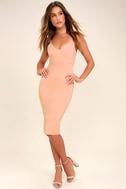 Don't Tell 'Em Blush Pink Bodycon Midi Dress 2